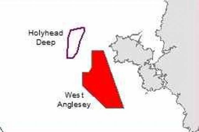 The proposed zones for tidal energy off Anglesey, north Wales.