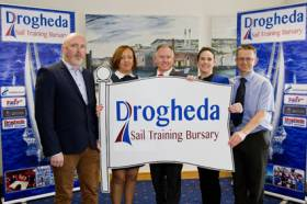 Launch of the Drogheda Sail Training Bursary took place recently. The bursary is a unique new sponsorship structure between Public and Private enterprise from the locality.