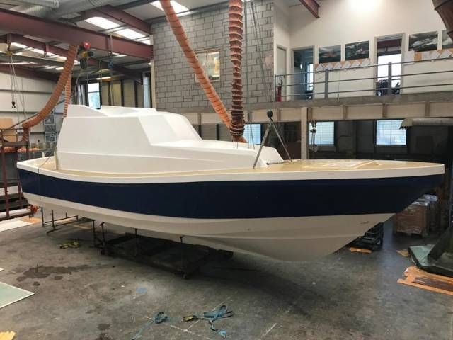 Safehaven Marine's latest Interceptor 48 pilot boat is taking shape in Crosshaven