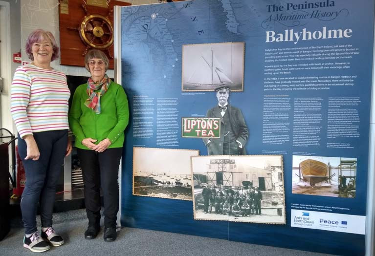 The Ballyholme display with Afloat's Betty Armstrong (right)