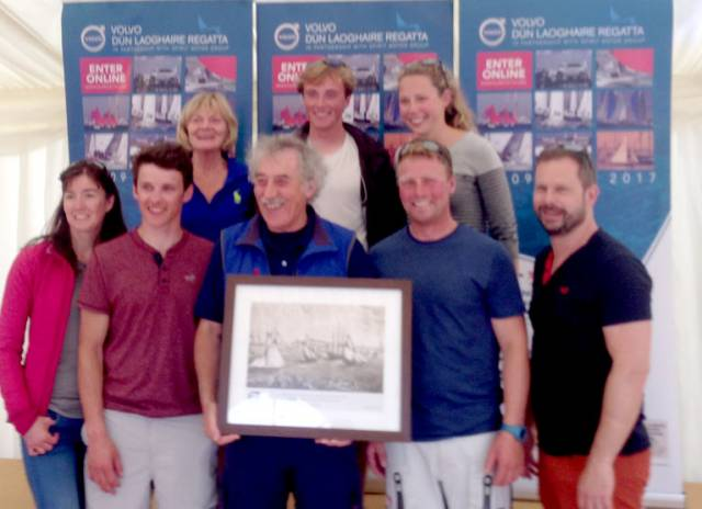 The INSS celebrate another podium position at the Royal St. George last night. The Dun Laoghaire Sailing School was second overall in the VDLR offshore class, the biggest class at Ireland's biggest sailing event