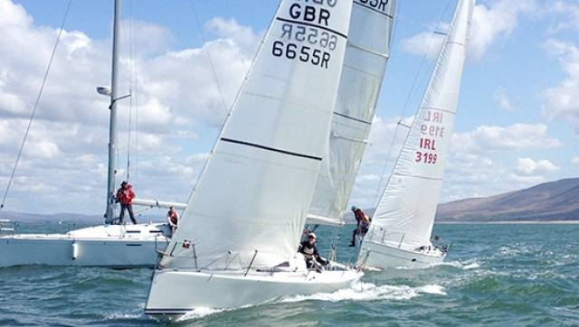The race team got in seven races on a windward leeward course