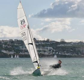 Five RS400s hit the water in Cork Harbour on Saturday, the first day back for the southern fleet