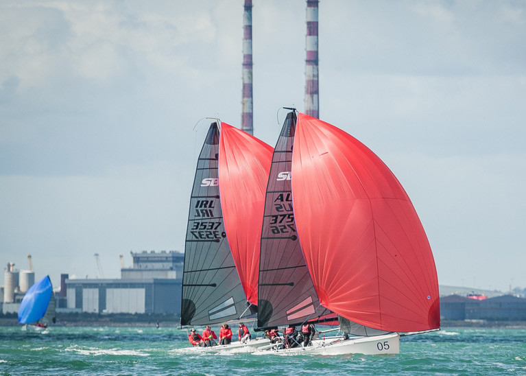SB20 sportsboats sailing on Dublin Bay - the class wil lrace for regional honours on the Bay on August 8th at a Royal St. George hosted championships