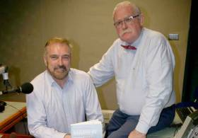 Change of helm – Taking over from Marcus (right) on the maritime programme on RTE Radio 1 commencing Friday 23rd June will be RTE Correspondent Fergal Keane