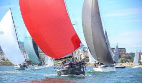 Summer sailing as it should be….Jump Juice from Cork in the lead at the Volvo Dun Laoghaire Regatta, which will be the biggest event in Irish waters in 2019