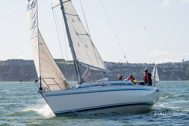 Kieran O'Brien's MG335 Magnet was dismasted in today's RCYC Winter League Race