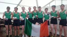 Ireland's winning junior eight at the Home International Regatta in 2015.