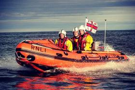 Howth inshore lifeboat – The inflatable rescue craft is highly manoeuvrable and specifically suited to surf, shallow water and confined locations