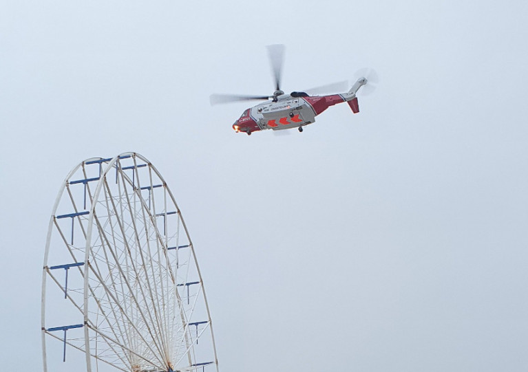 HM Coastguard searching for the angler feared missing from Blackpool's South Pier on 2 January