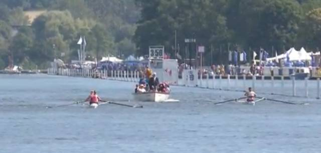 Sadhbh O'Connor and Natalie Long race Grace Prendergast and Kerri Gowler at Henley