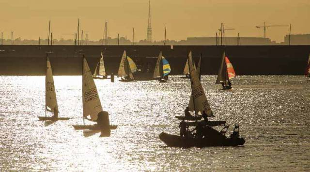 Light winds for tonight's DBSC dinghy racing inside Dun Laoghaire Harbour