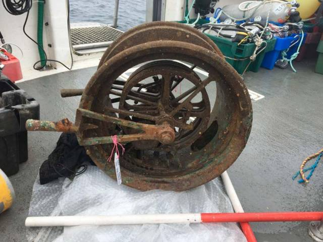The telegraph was recovered in a supervised dive off Kinsale on Tuesday 25 July