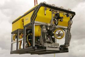 The ROV has high definition cameras, powerful lighting, robotic arms, and has been fitted with other specialist equipment to assist with the operation
