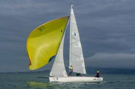 1720 sportsboat sailing at the INSS Quarterdeck Regatta