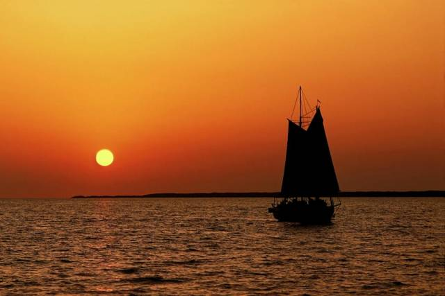Sail into the sunset  with the Royal St. George YC tonight
