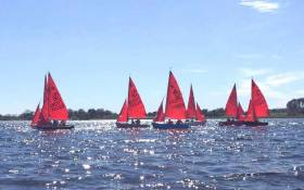Mirror dinghy training on Lough Ree