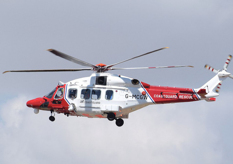 File image of a HM Coastguard SAR helicopter