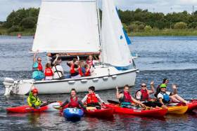 Canoeing and sailing at the Watersports Inclusion Games