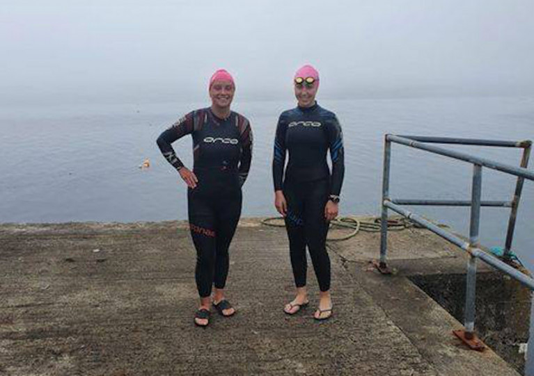 Carol Commons and Laura O'Hara completed their 13km distance in Kilcummin, Co Mayo