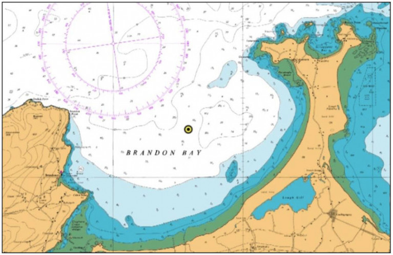 Admiralty Chart showing the location of the Waverider buoy deployment