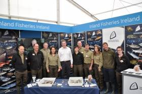 Minister Kyne with the Inland Fisheries Ireland team at the recent Ploughing Championships