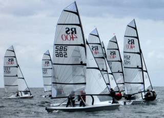 An RS400 start in Galway Bay