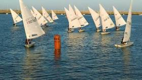 Tuesday night DBSC Laser racing at Dun Laoghaire