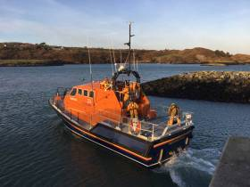 Baltimore RNLI's all-weather lifeboat assisted the search for a missing swimmer in the Ilen River on Tuesday morning 11 September