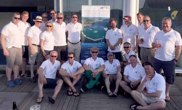Team Ireland at Monday night's announcement in Cowes of the European Championships that will be sailed in Dun Laoghaire in August 2018