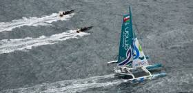Oman MOD 70 will be one of three giant trimarans looking for the Round Ireland Record next month