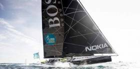 For the casual spectator, this is the kind of sailing that attracts attention – Alex Thomson's IMOCA 60 Hugo Boss at full chat on the foils.
