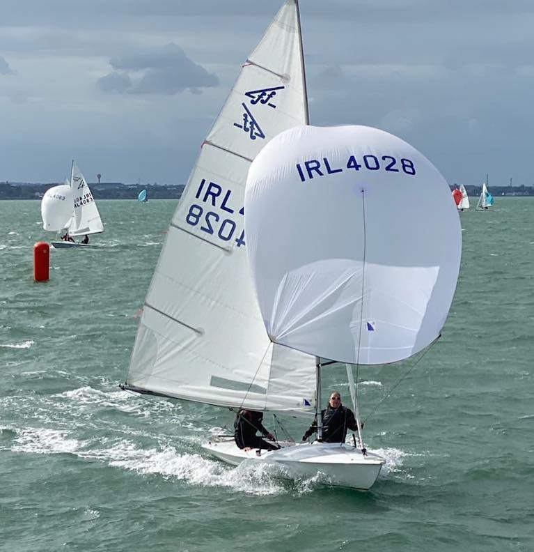 Sunshine at sea, clouds over the land – the season of 2020 is defined at the National Yacht Cub's Sesquicentennial Regatta in Dublin Bay on September 5th, with Flying Fifteen Class Captain Neil Colin (DMYC) racing Ffuzzy with Margaret Casey