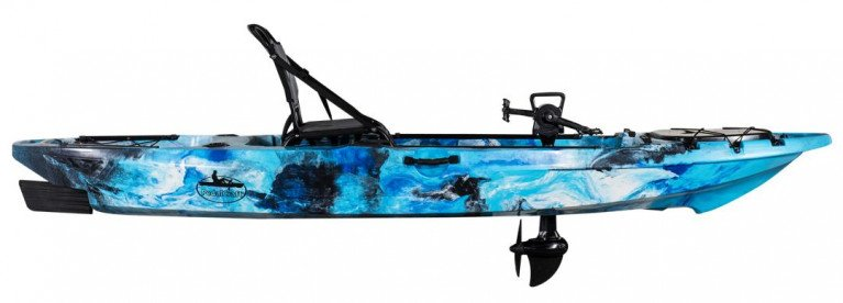 The Tarpon Propel is equipped with a performance-engineered pedal drive system for hands-free fishing