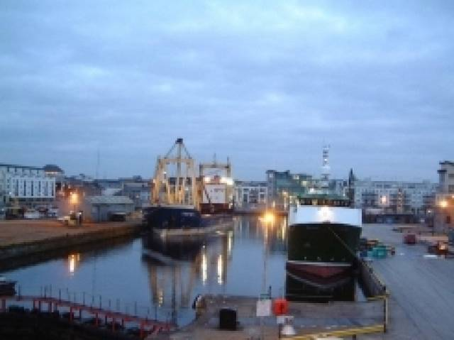The confines of the small Dun Aengus Dock, the only dock at Port of Galway which has expressed disappointment at delays in a decision to extend the port