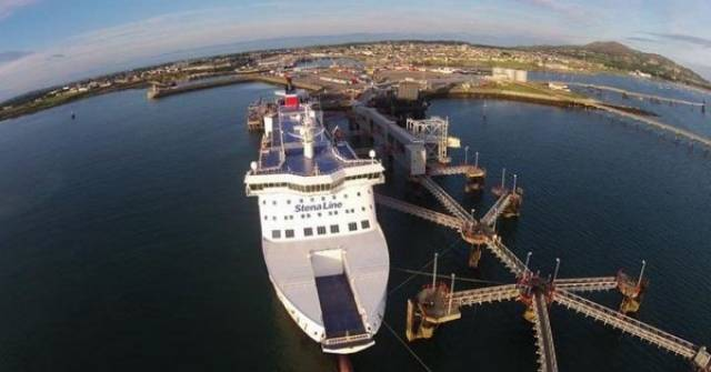 The ferry giant. Stena Line was commenting after UK Government unveiled plans for 10 free ports across the UK after Brexit among them Afloat adds is the Port of Holyhead, Wales where the Stena Superfast X is berthed above.