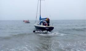 Crosshaven RNLI comes to the aid of the grounded yacht