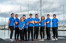 Olympic Sailing Team - Annalise Murphy, Sean Waddilove, Katie Tingle, Liam Glynn, Robert Dickson, Seafra Guilfoyle, Aoife Hopkins, Finn Lynch and Ryan Seaton. Not pictured is Aisling Keller