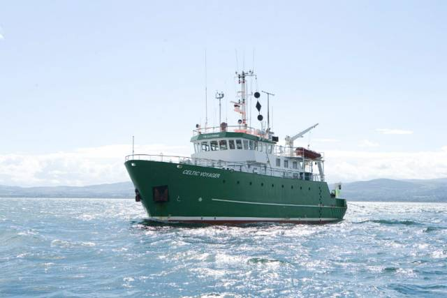 The RV Celtic Voyager is undertaking the survey off the Celtic Sea shelf southwest of Cork and Kerry