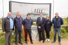 A memorial perforated picture installation was unveiled on the headland by Fred Graepel, whose company donated the installation. Scroll down for more photos