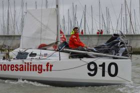 One of the pre-race favourites after a strong 2017 season, Dolan led the fleet out of La Rochelle, France, until realising he had made a course error and had to turn back.