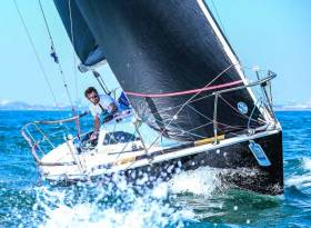 Jonny Swann's Half Tonner Harmony from Howth Yacht Club competing in this year's Royal Irish Yacht Club Regatta