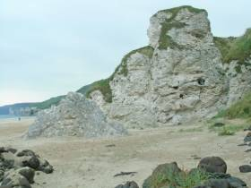Whiterocks cliffs and beach at Portrush