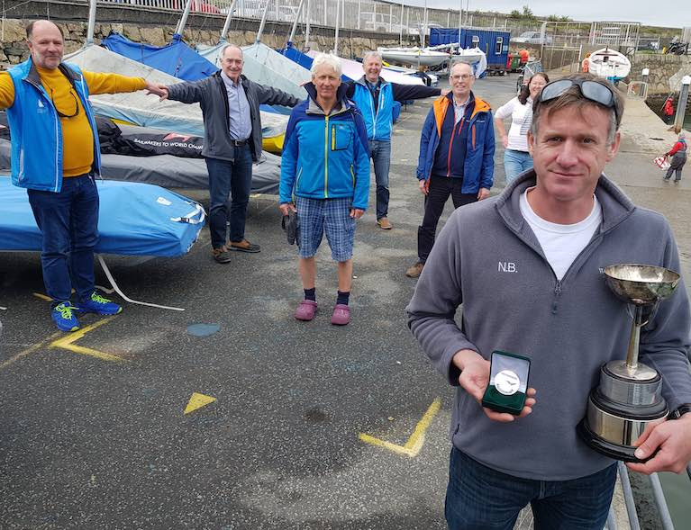 Noel Butler with his NYC 150th medal and Leinster Trophy at the DMYC