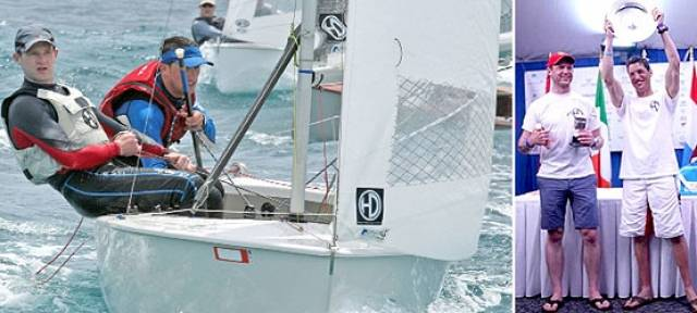 Shane MacCarthy and Andy Davis from Greystones Sailing Club are the new GP14 World Champions
