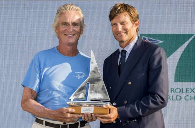 Mike Slade (left) wins in Porto Cervo, Italy