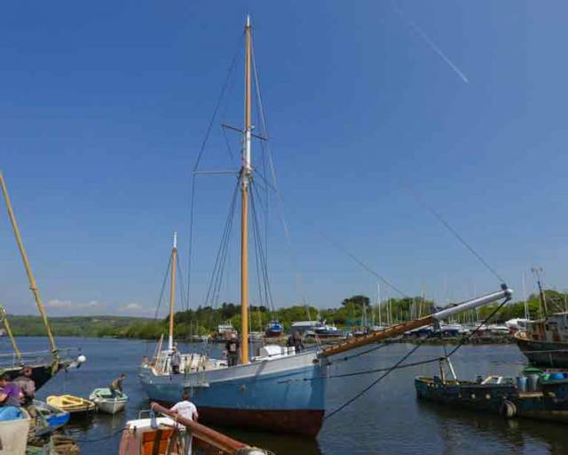 Historic Ketch Ilen Launches in Time for Baltimore Wooden Boat Festival