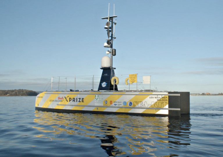 The USV Maxlimer was controlled remotely via satellite