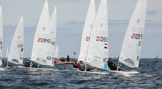 A great start for Ballyholme Yacht Club's Liam Glynn at Kiel Week