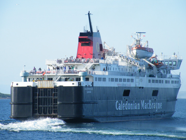 Isle of Arran, Scotland: Two people were discovered in the rear footwells of a car on the ferry from Arran to Ardrossan. AFLOAT has identified the ferry as the Caledonian Isles (swings away from Brodick, Arran) the main ferry of the most southern year-round CalMac operated route that is nearest to Northern Ireland.